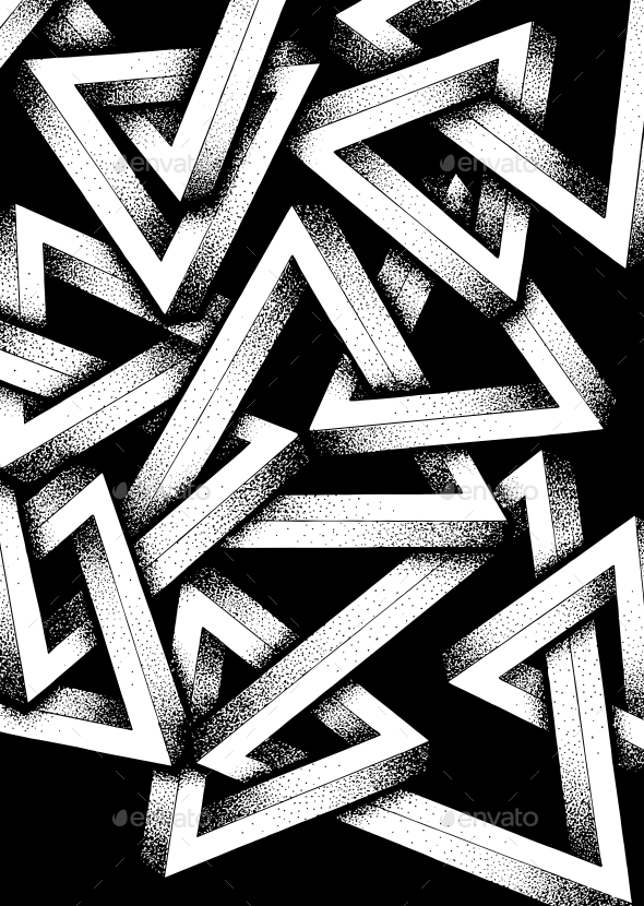 Impossible Penrose Triangles Illustration - Miscellaneous Illustrations