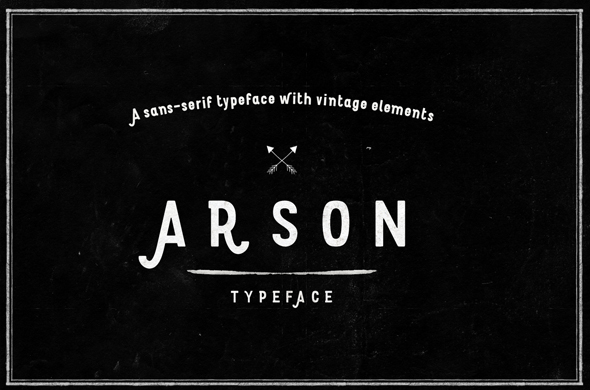 Arson Typeface - Sans-Serif Fonts