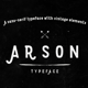 Arson Typeface - GraphicRiver Item for Sale