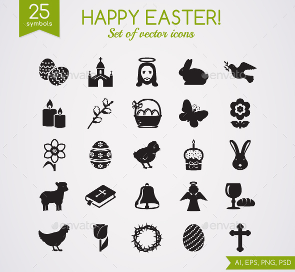 Easter Icons. - Seasonal Icons