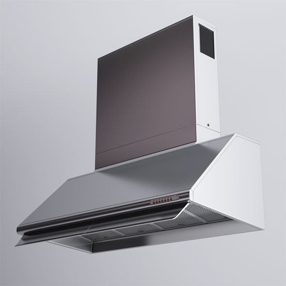 Alpes Inox Kitchen Hood - 3DOcean Item for Sale