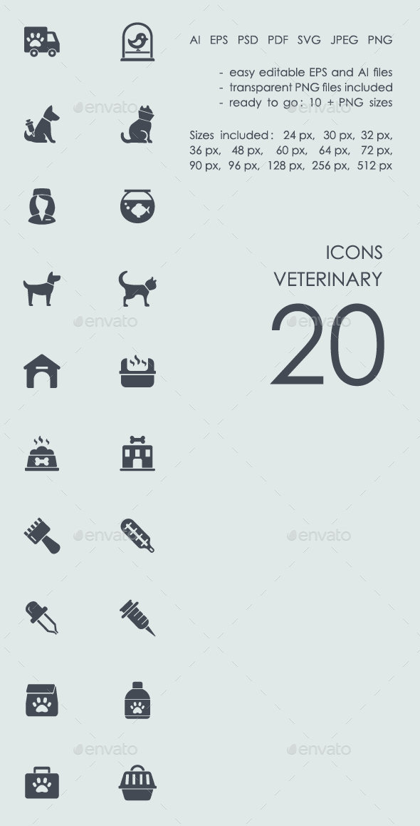 Veterinary icons - Abstract Icons