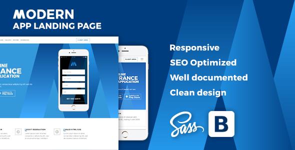 Modern –  Responsive Multipurpose App Landing Page
