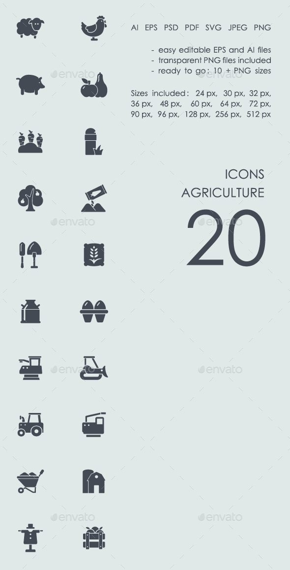 Agriculture icons - Abstract Icons