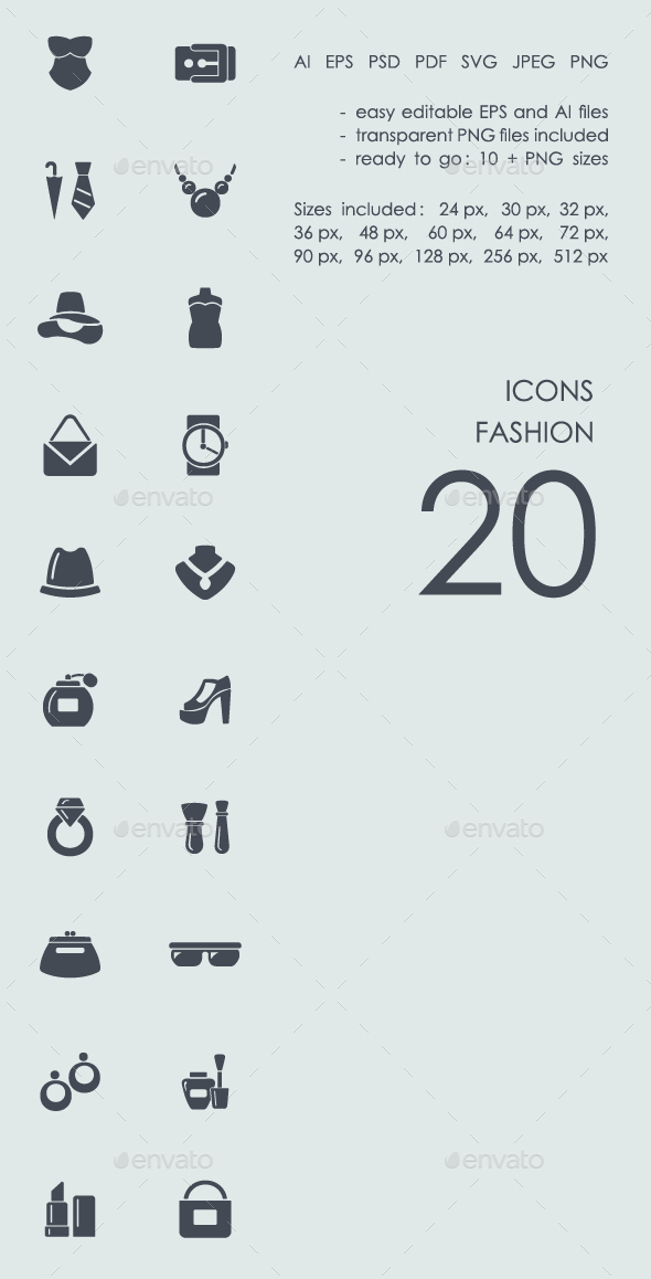 Fashion icons - Abstract Icons
