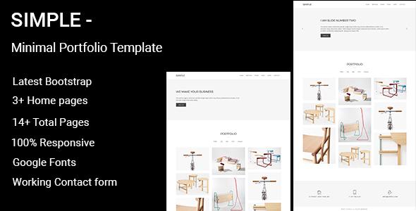 Simple - Minimal Portfolio Template - Portfolio Creative
