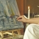 Artist Working on His Painting - VideoHive Item for Sale