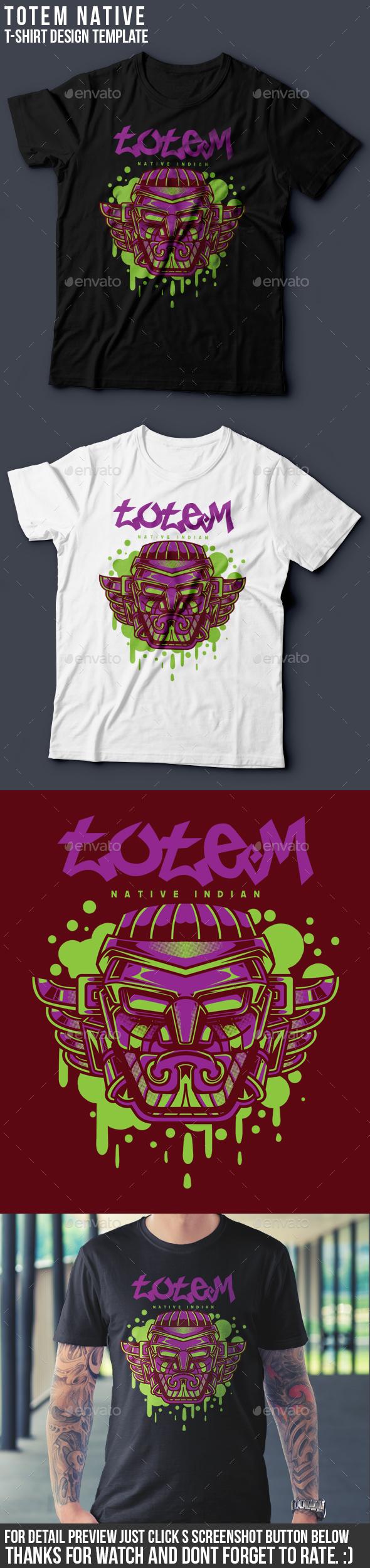 Totem T-Shirt Design - Clean Designs