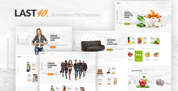 Last40 Store - Ecommerce PSD Template - Retail PSD Templates
