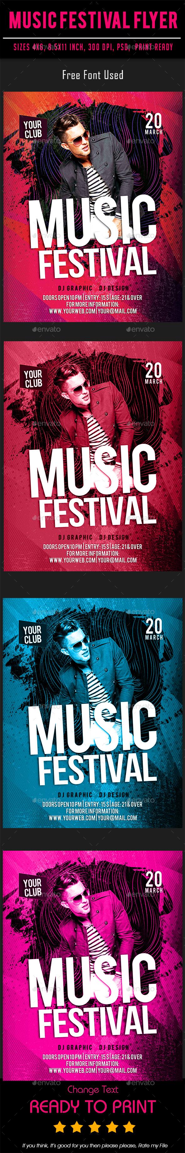 Music Festival Flyer - Flyers Print Templates