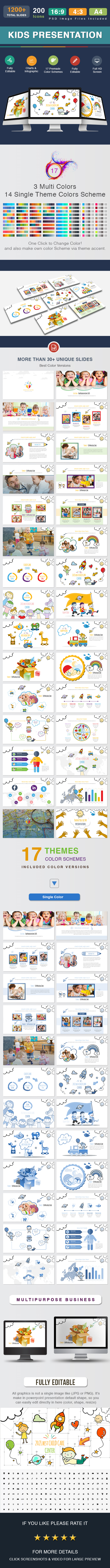 kids Presentation Template - Creative PowerPoint Templates