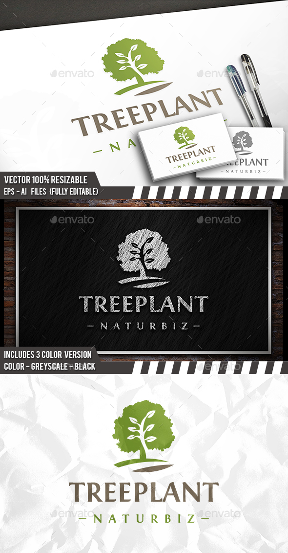 Tree Grow Logo - Nature Logo Templates
