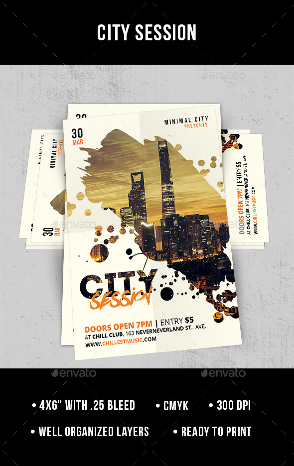City Session - Flyer - Clubs & Parties Events