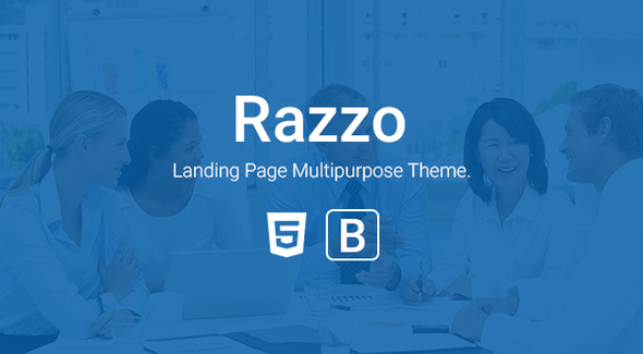 Razzo – Multipurpose Responsive Bootstrap Landing page htme