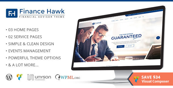 Finance Hawk – Finance and Consulting Business WordPress Theme