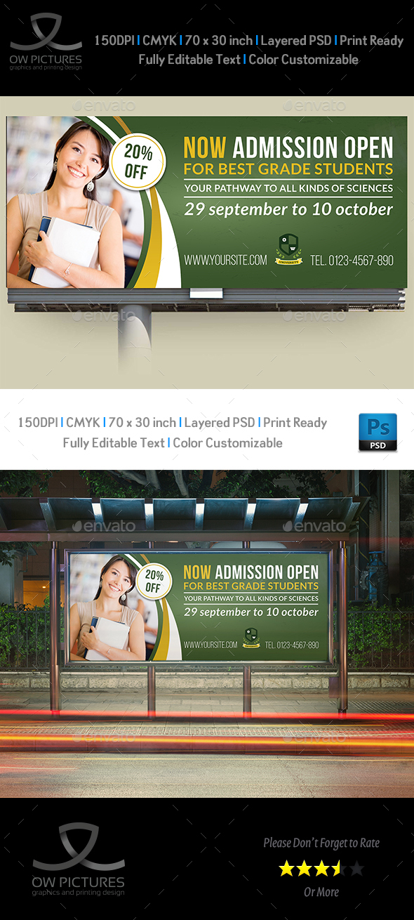 Education Billboard Template - Signage Print Templates