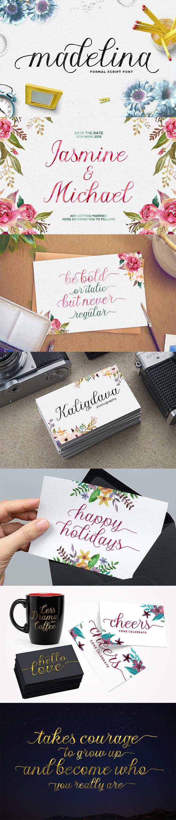 Madelina Script - Script Fonts