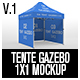 Tente Gazebo 1x1 Mockup Vol 01 - GraphicRiver Item for Sale