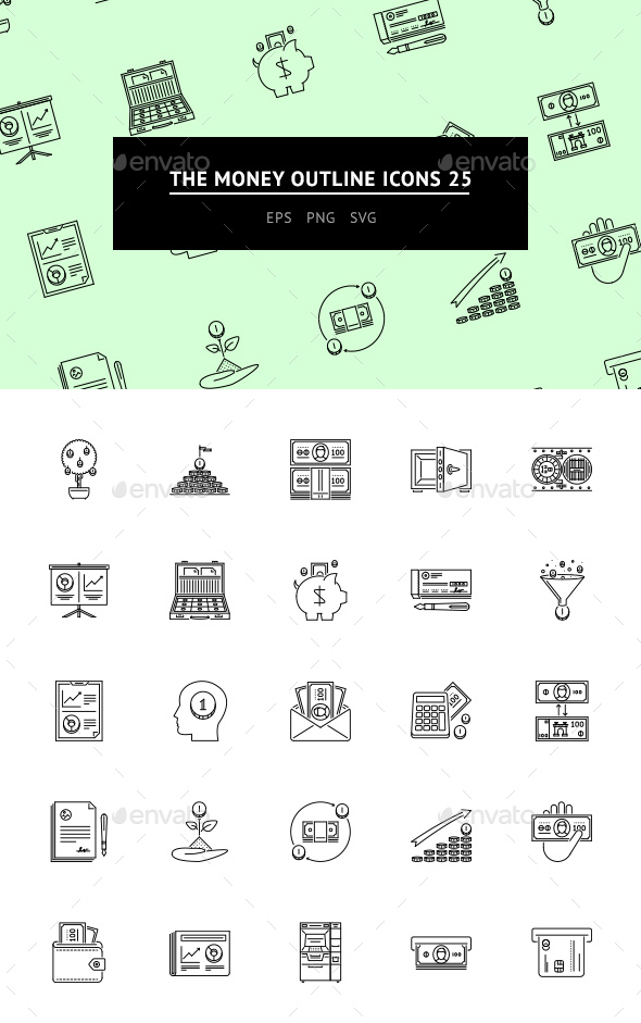 The Money Outline Icons 25 - Web Icons