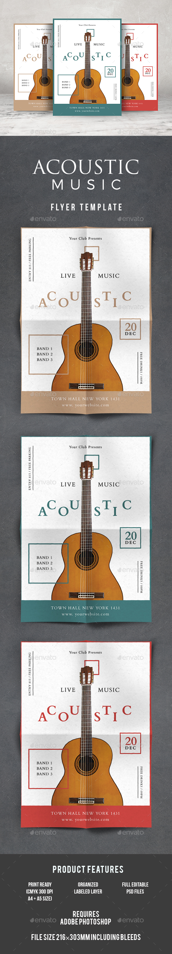 Acoustic Flyer - Events Flyers