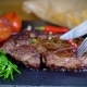 Big Tasty Steak on Stone Plate