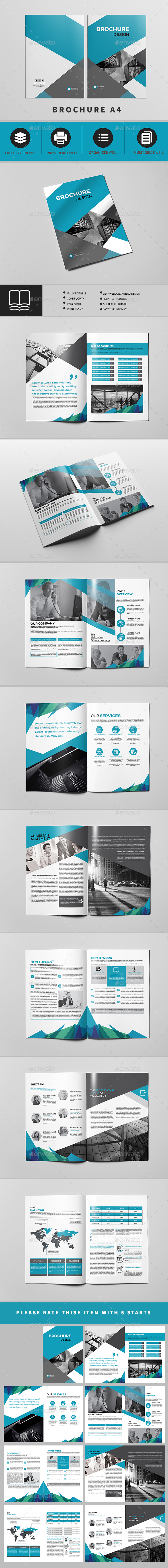 Company Profile A4 16 Pages - Brochures Print Templates