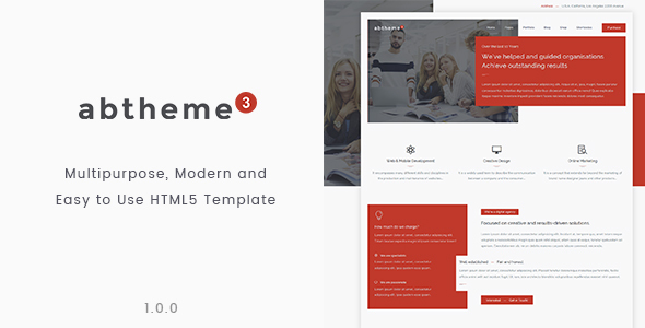 abtheme3 – Responsive Multipurpose and Easy to use HTML5 template