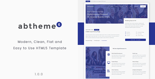abtheme6 – Modern multipurpose and Easy to use HTML5 template