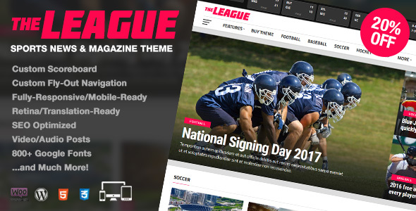 The League – Sports News & Magazine WordPress Theme