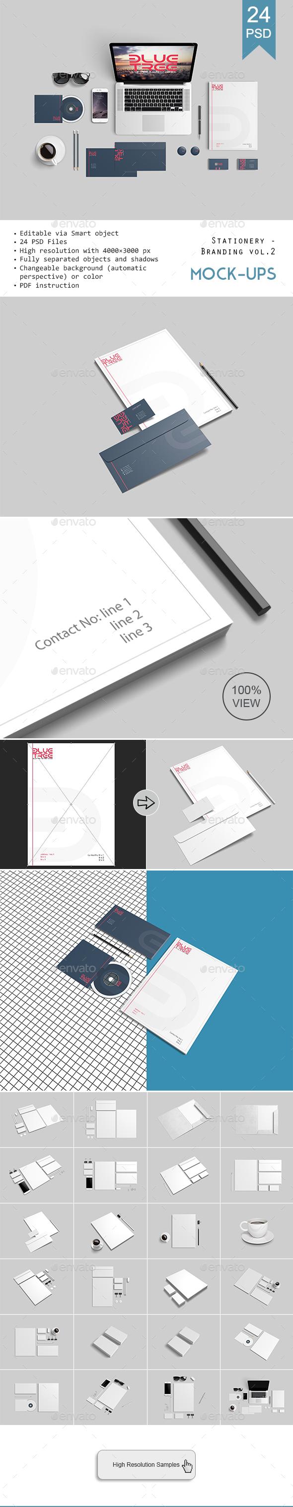 Stationery / Branding Mockups V2 - Stationery Print