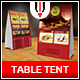 Restaurant Table Tent Menu - GraphicRiver Item for Sale