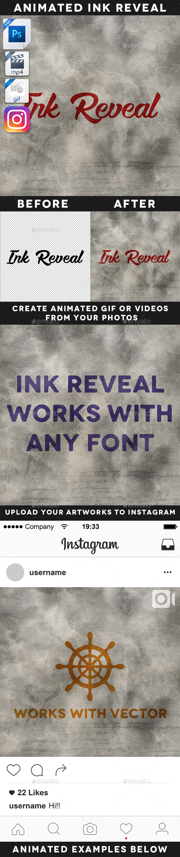 Animated Ink Reveal Effect Template - Artistic Photo Templates