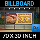 Bakery Billboard Template Vol.2 - GraphicRiver Item for Sale