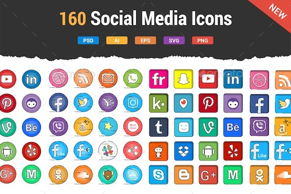 Social Media Buttons - Icons