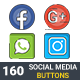 Social Media Buttons - GraphicRiver Item for Sale