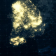 South Korea Map Night Lighting 4K - VideoHive Item for Sale