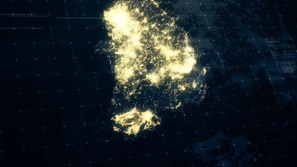 South korea map night lighting 4k by rodionova videohive play preview video gumiabroncs Choice Image