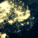 South Korea Map Night Lighting Close View 4K - VideoHive Item for Sale