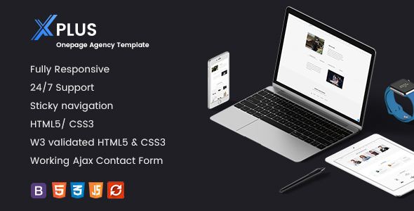 xPlus- Responsive Onepage Agency Template