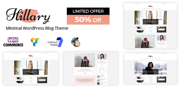 Hillary - Simple and Elegant WordPress Blog Theme - Personal Blog / Magazine