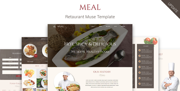 Meal_Restaurant Muse Template - Miscellaneous Muse Templates