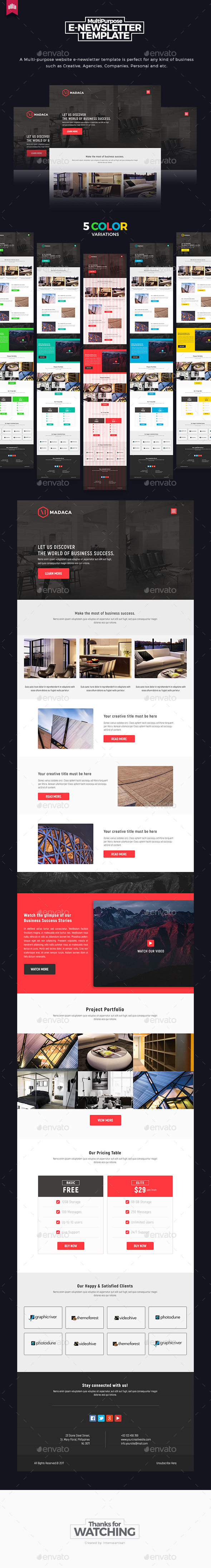Madaca - Multipurpose E-newsletter Template - E-newsletters Web Elements