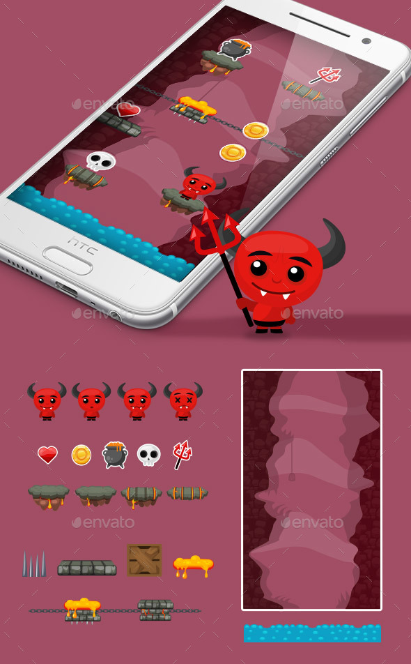 Demon Jump Game Kit - Game Kits Game Assets