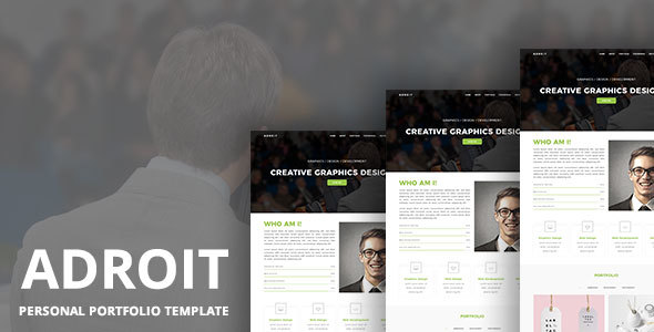 ADROIT – Personal Portfolio Template