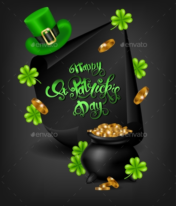 Greeting Card Design with Happy Saint Patrick's Day - Miscellaneous Seasons/Holidays