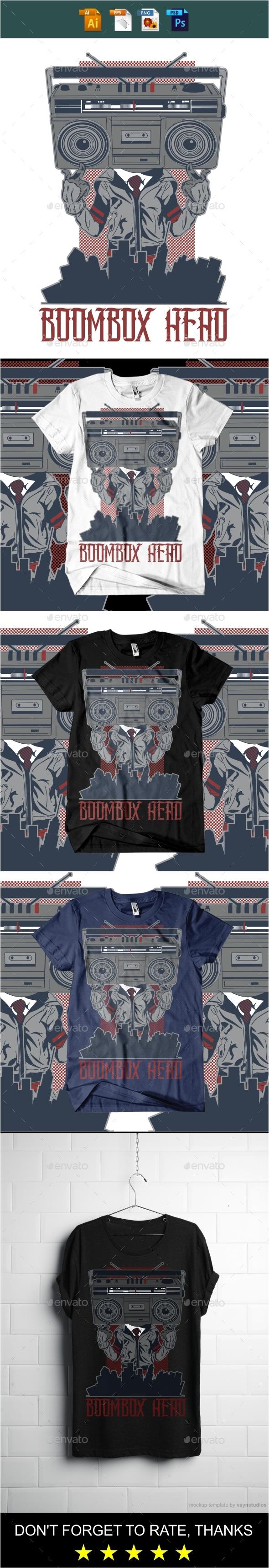 Boombox T-shirt design - Designs T-Shirts