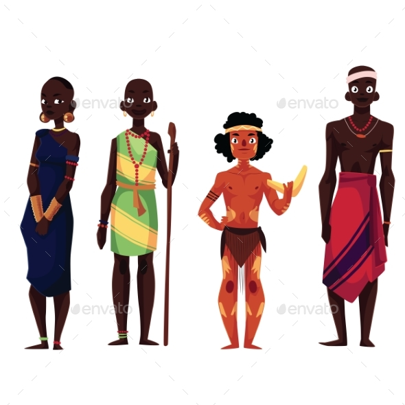 Native People of African Tribes - People Characters