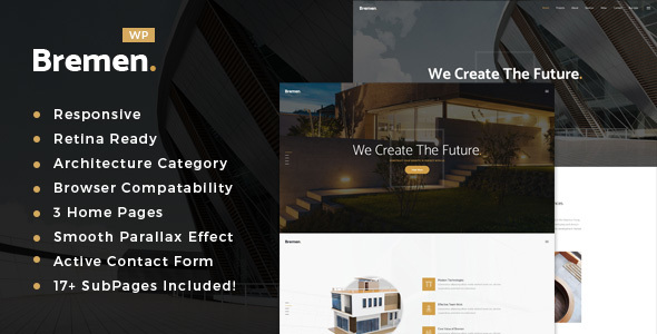 Bremen – Architecture, Interior and Design WordPress Theme