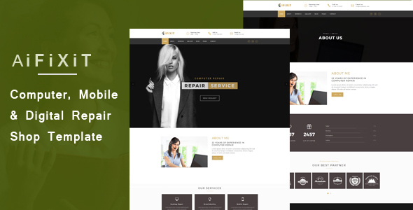 aiFiXiT – Phone, Computer and Digital Repair Shop Website Template
