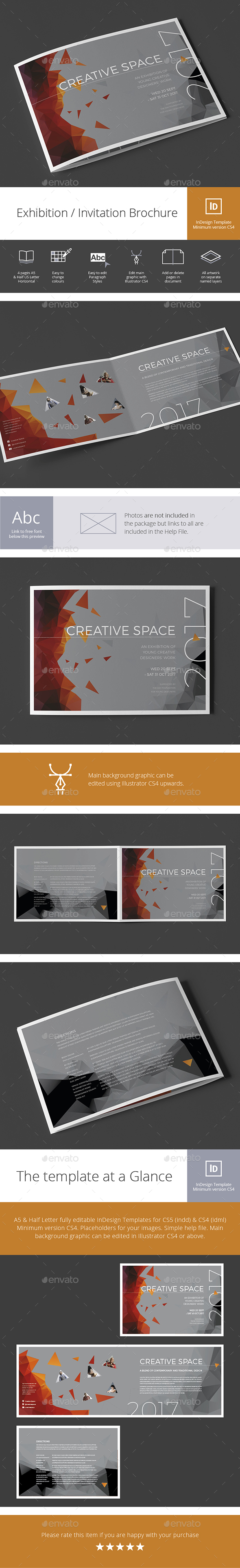 Exhibition / Invitation Brochure - Brochures Print Templates